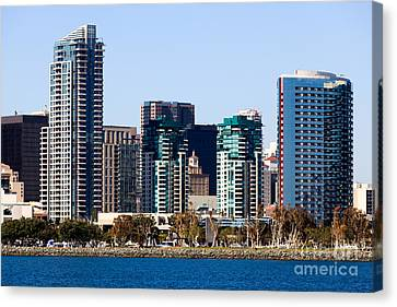 San Diego California Skyline Canvas Print by Paul Velgos