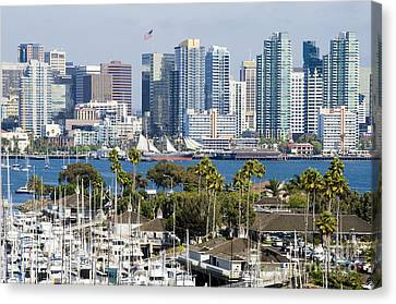 San Diego Cityscape Canvas Print by MaryJane Armstrong