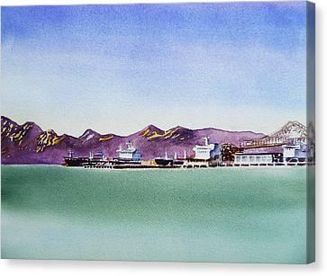 San Francisco Bay Richmond Port Canvas Print by Irina Sztukowski