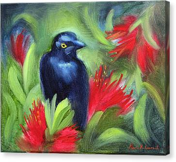 San Francisco Black Bird Canvas Print by Karin  Leonard