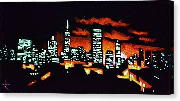 San Francisco Black Light Canvas Print by Thomas Kolendra