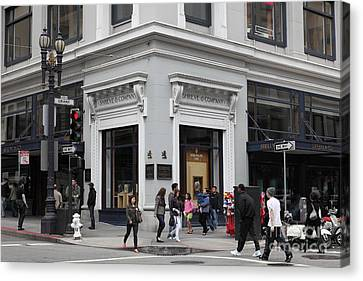 San Francisco Shreve And Company On Grant Street - 5d17920 Canvas Print by Wingsdomain Art and Photography