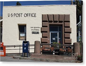 San Quentin Post Office In California - 7d18549 Canvas Print by Wingsdomain Art and Photography