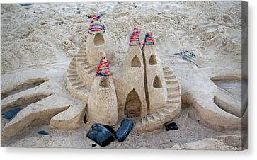 Sand Castle Canvas Print by Karen Elzinga