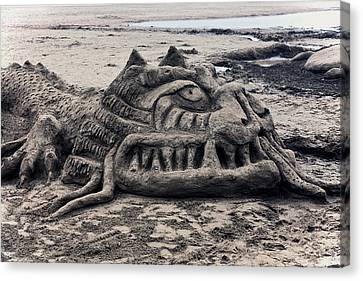 Sand Dragon Sculputure Canvas Print by Garry Gay