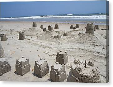 Sandcastle Canvas Print by Betsy C Knapp
