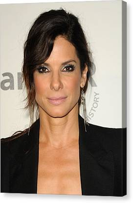 Sandra Bullock Wearing Irit Design Canvas Print by Everett