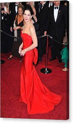 Sandra Bullock Wearing Vera Wang Dress Canvas Print by Everett