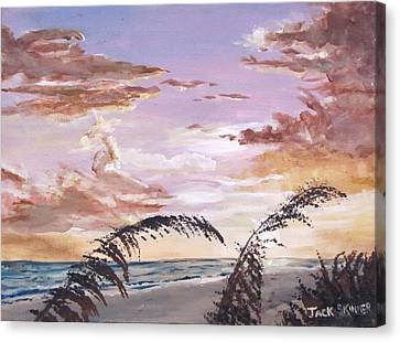 Sanibel Island Sunset Canvas Print by Jack Skinner