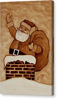 Santa Claus Is Coming Canvas Print by Georgeta  Blanaru