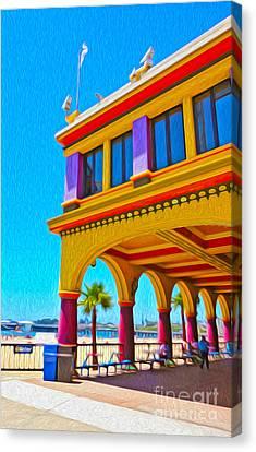 Santa Cruz Boardwalk - Arcade -01 Canvas Print by Gregory Dyer