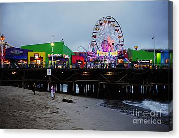 Santa Monica Pier May 12 2012 Canvas Print by Clayton Bruster