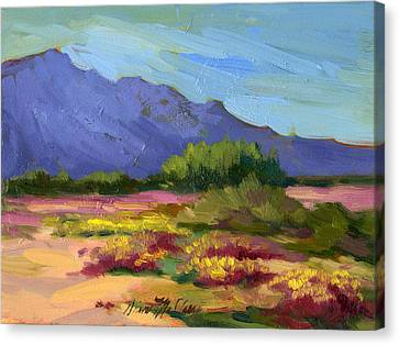 Santa Rosa Mountains In Spring Canvas Print by Diane McClary