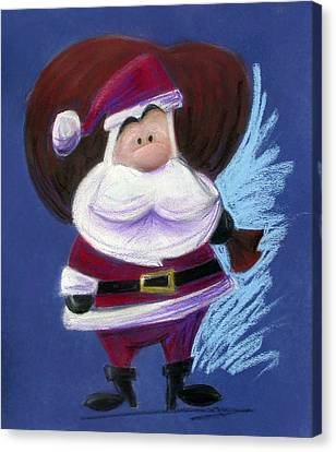 Santa With His Pack Canvas Print by Andrew Fling
