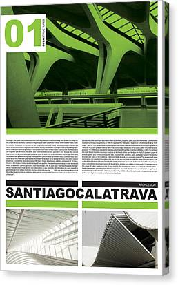 Santiago Calatrava Poster Canvas Print by Naxart Studio