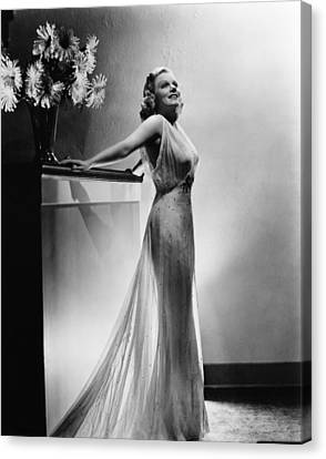 Saratoga, Jean Harlow, In A Gown Canvas Print by Everett