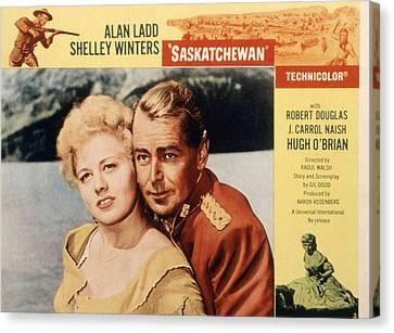 Saskatchewan, Shelley Winters, Alan Canvas Print by Everett