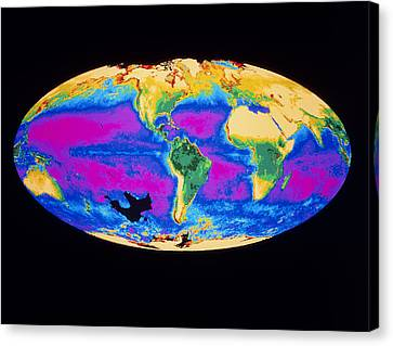 Satellite Image Of The Earth's Biosphere Canvas Print by Dr Gene Feldman, Nasa Gsfc
