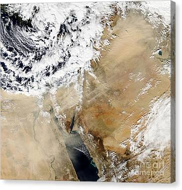 Satellite View Of The Eastern Canvas Print by Stocktrek Images