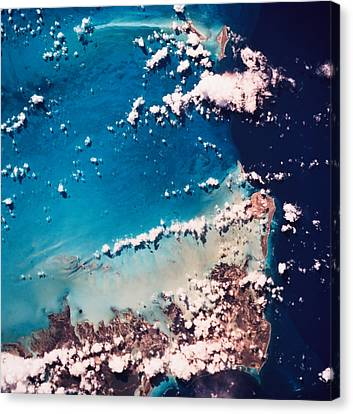 Satellite View Of The Ocean Canvas Print by Stockbyte