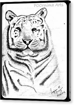 Save Tigers Canvas Print by Poornima M
