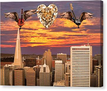 Rocks Canvas Print featuring the digital art Saving All My Love For You by Eric Kempson