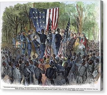 Sc: Emancipation, 1863 Canvas Print by Granger