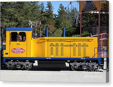 Scale Locomotive - Traintown Sonoma California - 5d19237 Canvas Print by Wingsdomain Art and Photography