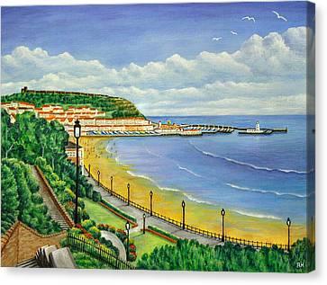 Scarborough Canvas Print by Ronald Haber