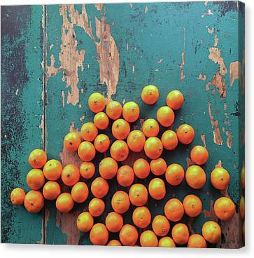 Scattered Tangerines Canvas Print by Sarah Palmer