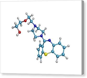 Schizophrenia Drug Molecule Canvas Print by Dr Tim Evans