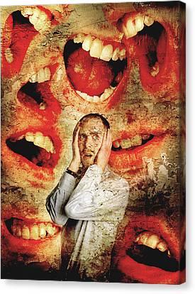 Schizophrenia Canvas Print by Tim Vernon, Lth Nhs Trust