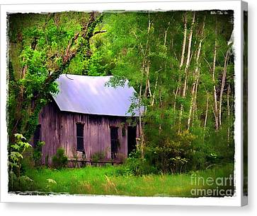 Schoolhouse In Lost Valley Canvas Print by Judi Bagwell