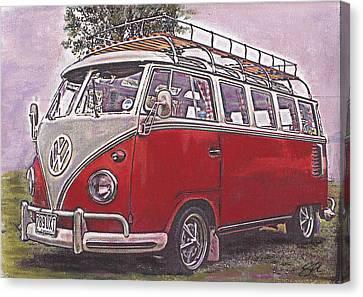 Scoobie Split Canvas Print by Sharon Poulton