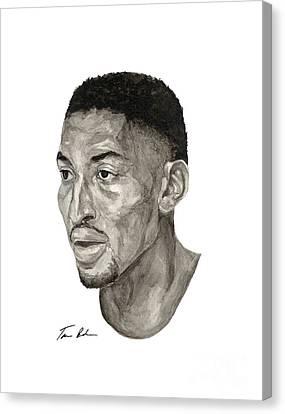 Scottie Pippen Canvas Print by Tamir Barkan