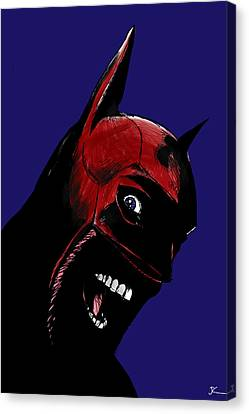 Screaming Superhero Canvas Print by Giuseppe Cristiano