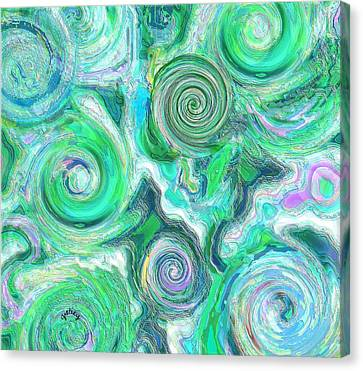 Sea Foam Canvas Print by Paintings by Gretzky