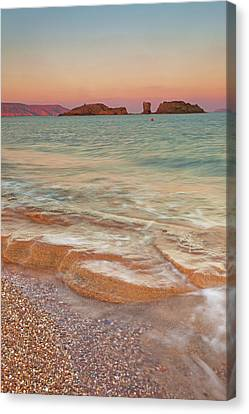 Sea Waves, Sitia,greece Canvas Print by © Mitrakoulis Alexandros