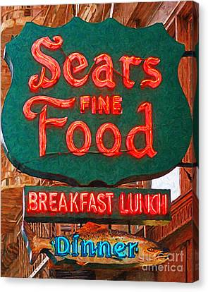 Sears Fine Food Restaurant San Francisco Canvas Print by Wingsdomain Art and Photography