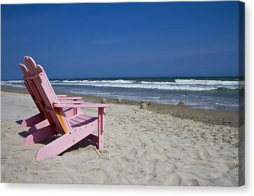 Seas The Chair  Canvas Print by Betsy Knapp
