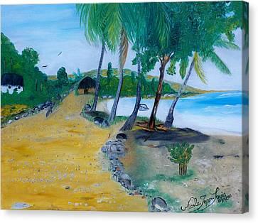 Seascape 1 Canvas Print by Nicole Jean-Louis