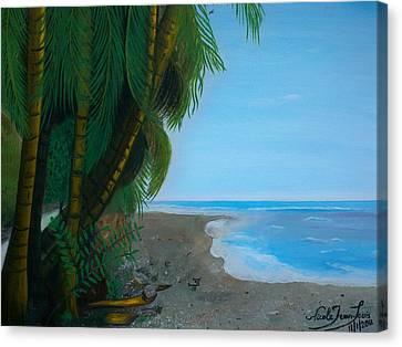 Seascape 3 Canvas Print by Nicole Jean-Louis