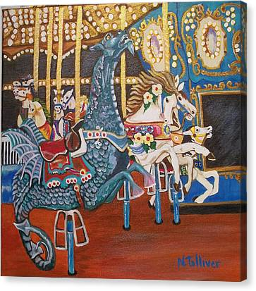 Seaside Heights Carousel Canvas Print by Norma Tolliver