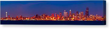 Seattle  Canvas Print by A A