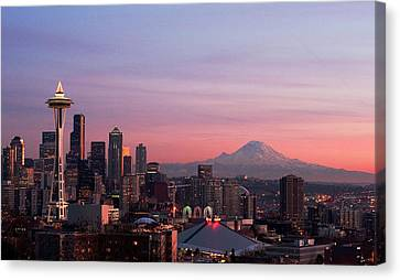 Seattle Canvas Print by Aaron Morris