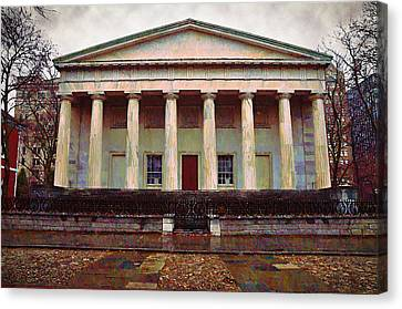 Second Bank Of The United States Philadelphia Pa Canvas Print by Bill Cannon