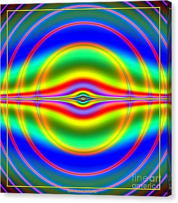 Seeing In Fluorescent Neon Fractal 135 Canvas Print by Rose Santuci-Sofranko