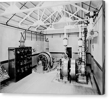 Self-contained Electric Power Station Canvas Print by Everett