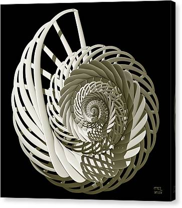 Self-referentially Braided Shell Canvas Print by Manny Lorenzo