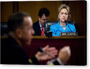 Senator Hillary Clinton A Member Canvas Print by Everett